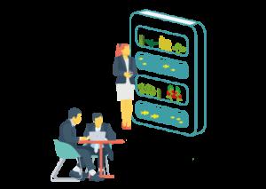 Installez un Baromate au coeur des bureaux de vos entreprises. C'est simple, rapide et sans impact organisationnel. AURA s'occupe de tout !